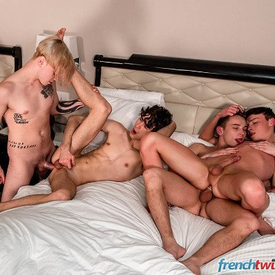 7-man orgy - French Twinks photo gallery